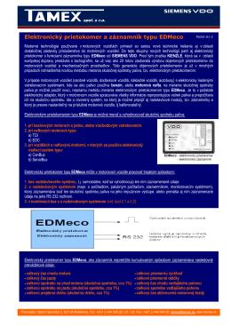 Elektronický prietokomer a záznamník typu