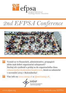 PLAGÁT 2nd EFPSA Conference