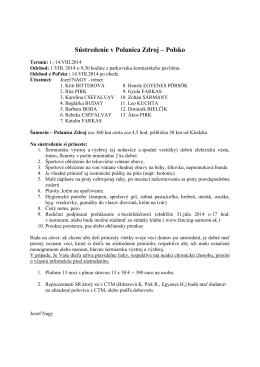 Sústredenie pretekárov v Poľsku od 01. do 14. augusta 2014