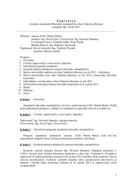 Zápisnica z OZ 26.06. 2013 - Obec Nedožery