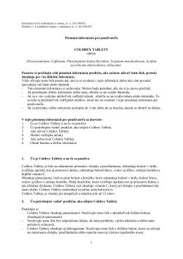1 Písomná informácia pre používateľa COLDREX TABLETY