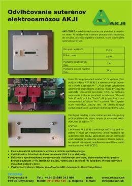AKJI Elektroosmóza technické informácie