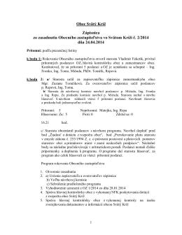 Zápisnica OZ 2/2014 zo dňa 24.04.2014