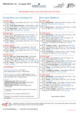 PROGRAM 24. – 31. január 2015