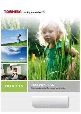 Klimatizácia Toshiba Residential 2014/2015