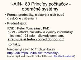 v tvare pdf - Katedra základov a vyučovania informatiky