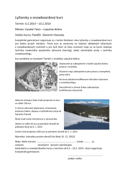 Lyžiarsky a snowboardový kurz