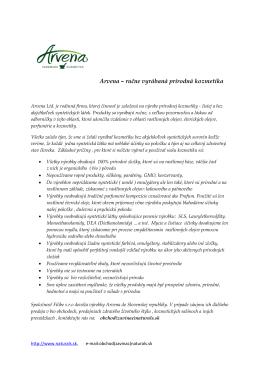 Arvena – ručne vyrábaná prírodná kozmetika