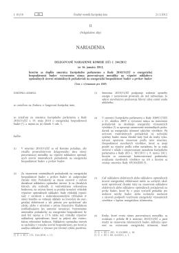 Delegované nariadenie Komisie (EÚ) č. 244/2012 zo 16