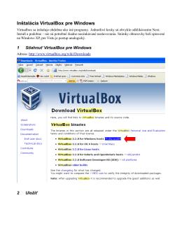 Inštalácia VirtualBox pre Windows
