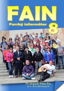FAIN 8 - Farnosť Špačince