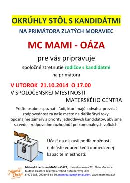 MC MAMI - OÁZA - Materské centrum Mami