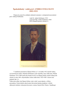 Profesor Andrej Stollmann, tvorca banskobystrických