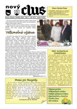 Obecné noviny č.3 - 2013