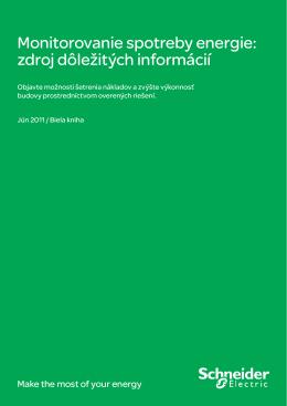Monitorovanie spotreby energie: zdroj dôležitých informácií