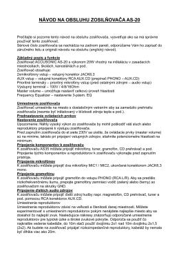 Návod na použitie (pdf)