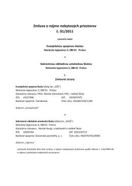 Najomna zmluva 1-2011 ESS