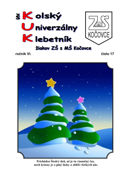 december 2011 - Základná škola s materskou školou Kočovce
