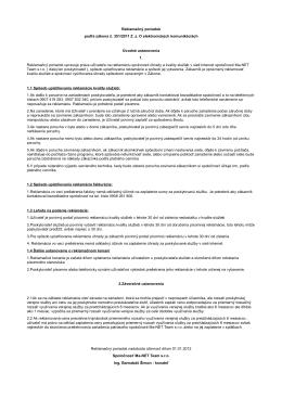 Reklamačný poriadok podľa zákona č. 351 - Ma