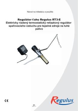Regulátor ťahu Regulus RT3-E