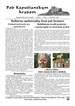 Časopis Pod Kapušianskym hradom 3/2007 (PDF: 645