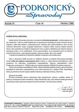 Spravodaj 10 / 2006