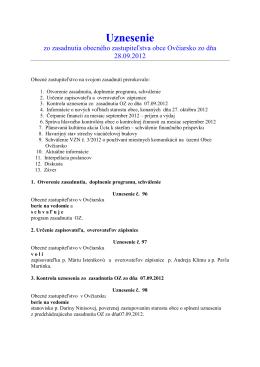Uznesenie 28092012