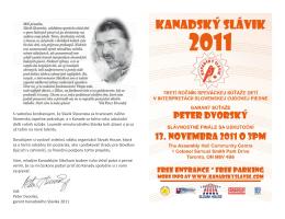 Stiahnite si spevník Kanadského Slávika 2011 v PDF formáte