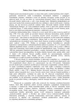 Šoltész, Peter: Zápas o slovenský spisovný jazyk Podpora