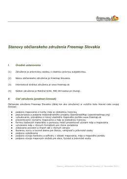Stanovy občianskeho združenia Freemap Slovakia