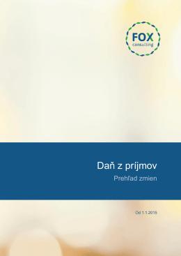 Daň z príjmov - FOX Consulting sro