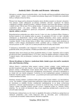 Jazdecký klub - Závadka nad Hronom