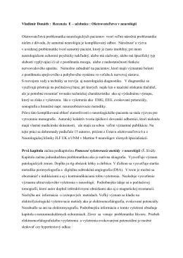 Recenzný posudok - Doc. MUDr.Vladimír Donáth