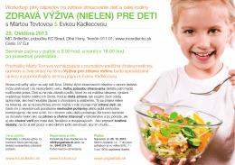 Zdravá výživa (nielen) pre deti