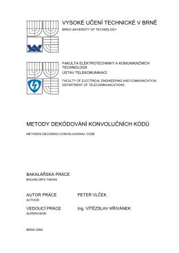 BP_Peter Vlček_final - Vysoké učení technické v Brně