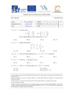 Zápočtový test 1 - Kiwi.mendelu.cz