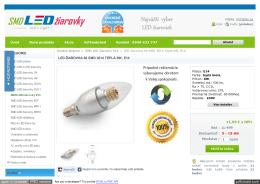 LED žiarovka 60 SMD 3014 Teplá 6W, E14