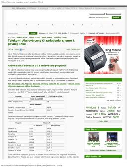 Telekom: Akciové ceny či zariadenia za euro k pevnej linke