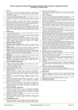 Zmluva o poskytovaní elektronických služieb