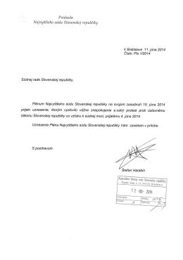 3. uznesenie pléna najvyššieho súdu k novele ústavy 2014