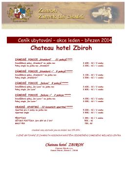 Veřejné prohlídky - Chateau hotel Zbiroh