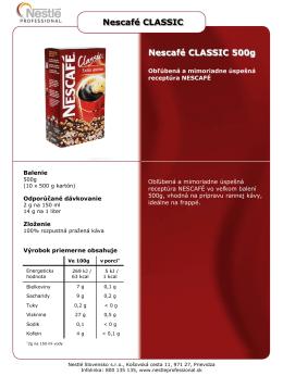 Nescafé CLASSIC Nescafé CLASSIC 500g