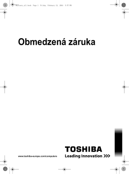 Obmedzená záruka spoločnosti TOSHIBA