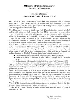 KZ ŽSR informácia - Odborové združenie železničiarov