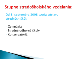 prijímacie skúšky na sš v šk. roku 2013/2014