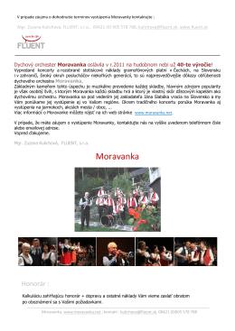 Moravanka - FLUENT, sro