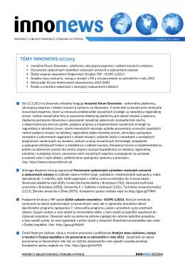 InnoNews 07-2013 - Enterprise Europe Network