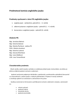 charakteristike predmetu vo formáte PDF
