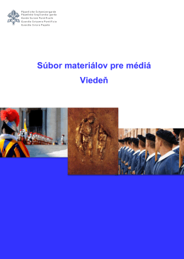 Súbor materiálov pre médiá Viedeň