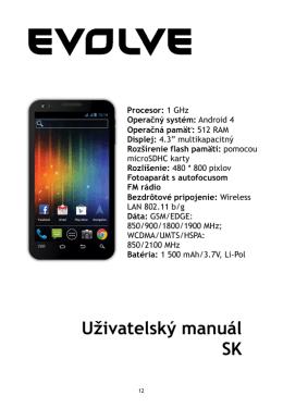 Uživatelský manuál SK
